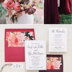 Burgundy Floral Wedding Inspiration