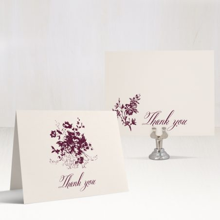 Classic Burgundy Thank You Cards