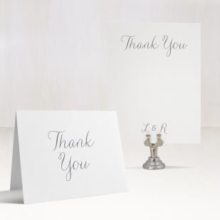 Classic Script Thank You Cards