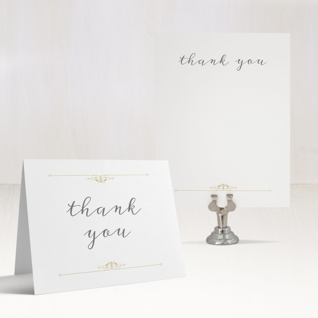 Gold Vintage Thank You Cards