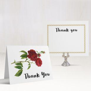 Jewel Tone Rose Thank You Cards