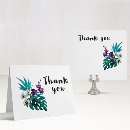 Jewel Tone Tropics Thank You Cards