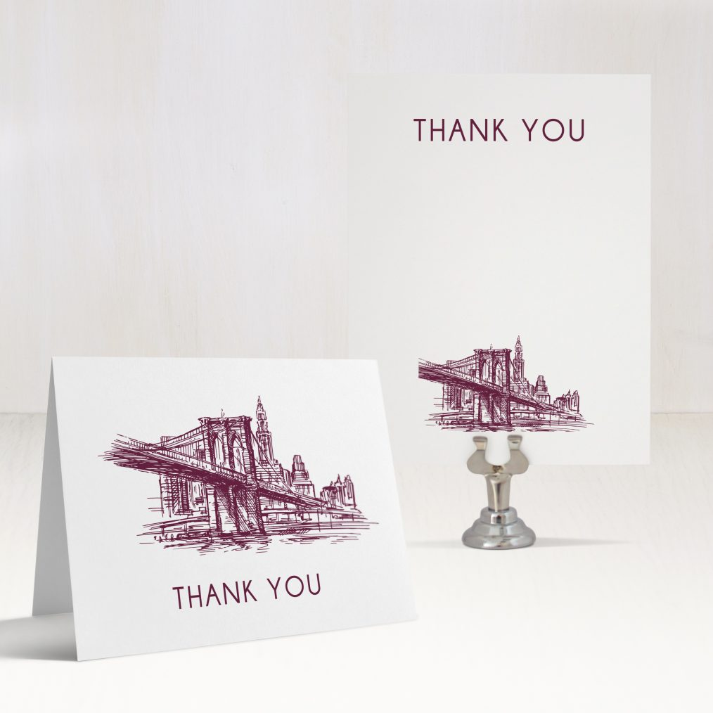 New York City Chic Thank You Cards