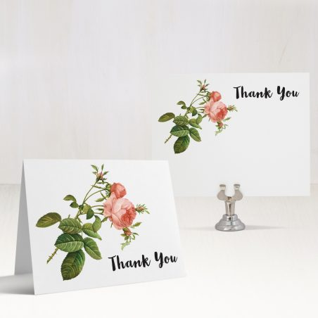 Rose Gold Glam Thank You Cards
