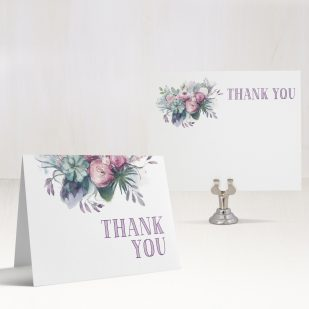Watercolor Rose Thank You Cards