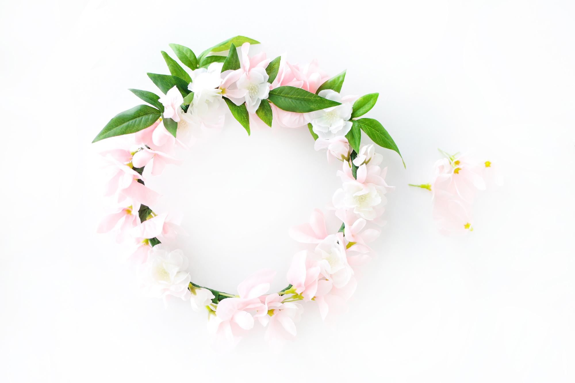 DIY Garden Roses Floral Bridal Crown