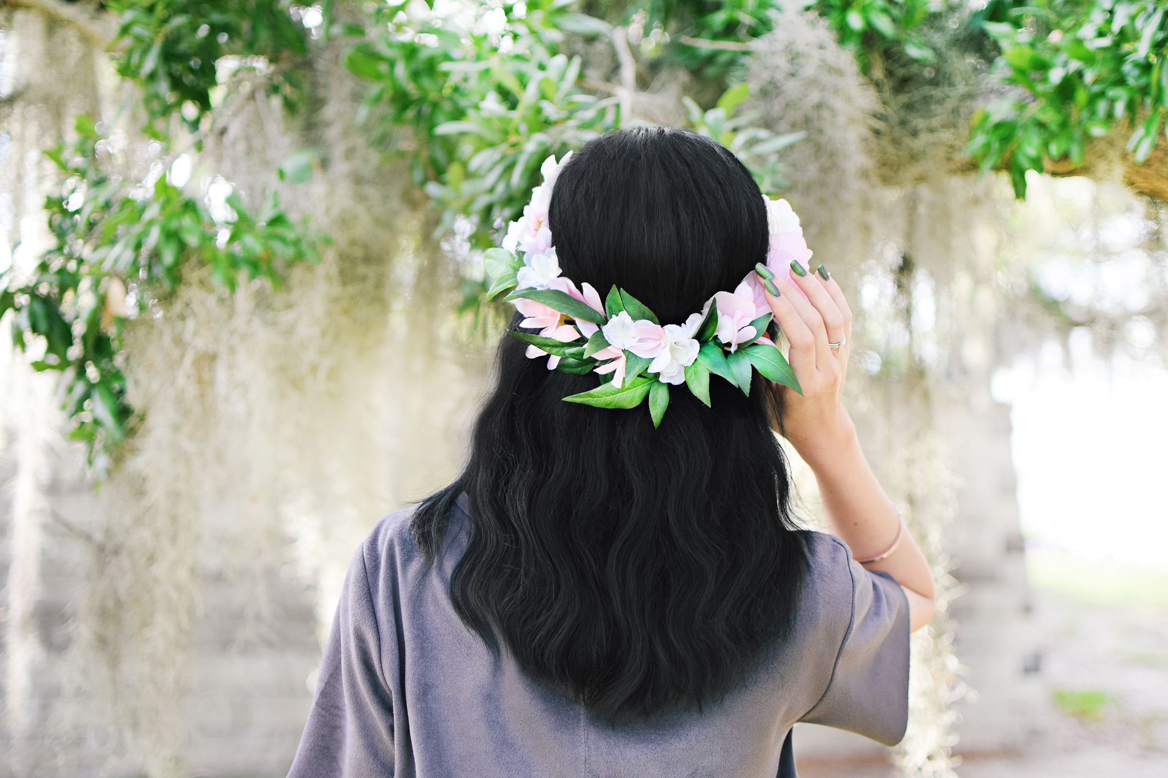 Diy Garden Roses Floral Bridal Crown Beacon Lane