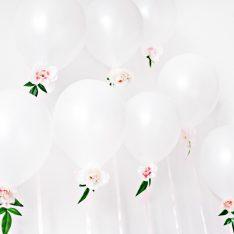DIY Floral Bridal Shower Balloons