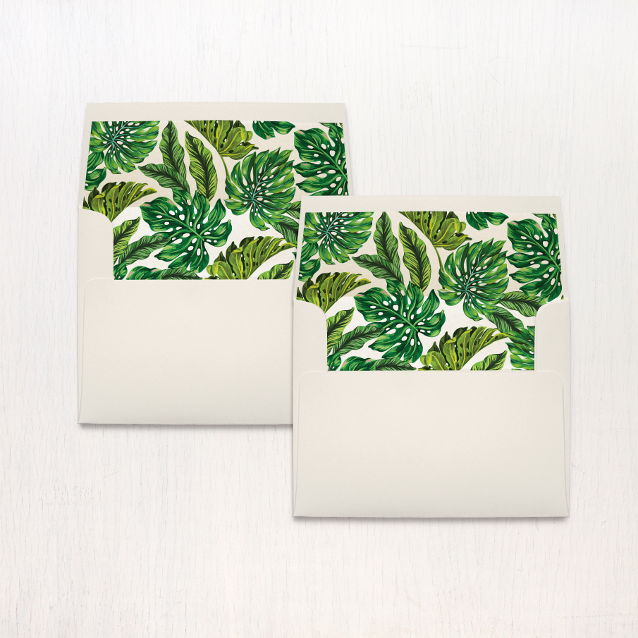 Elegant Tropical Thank You Cards