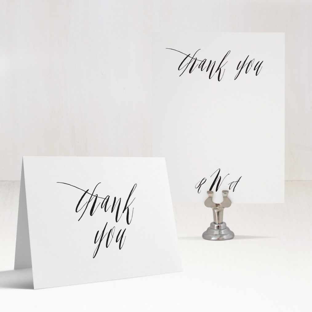 Elegant Type Thank You Cards
