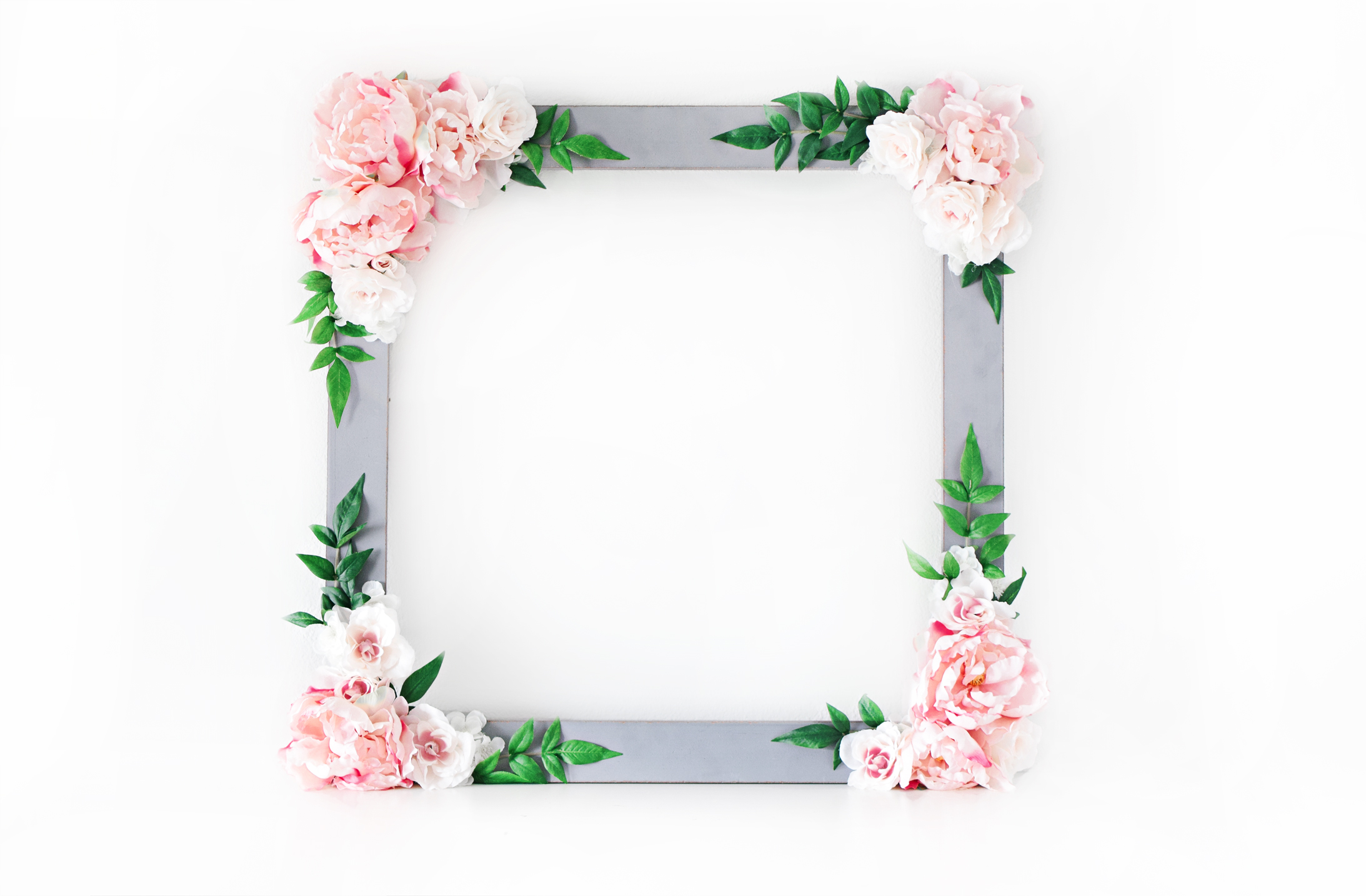DIY Bridal Shower Floral Photo Booth Frame - Beacon Lane