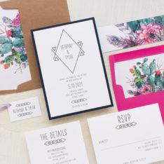 Glamorous Jewel Tone Desert Wedding