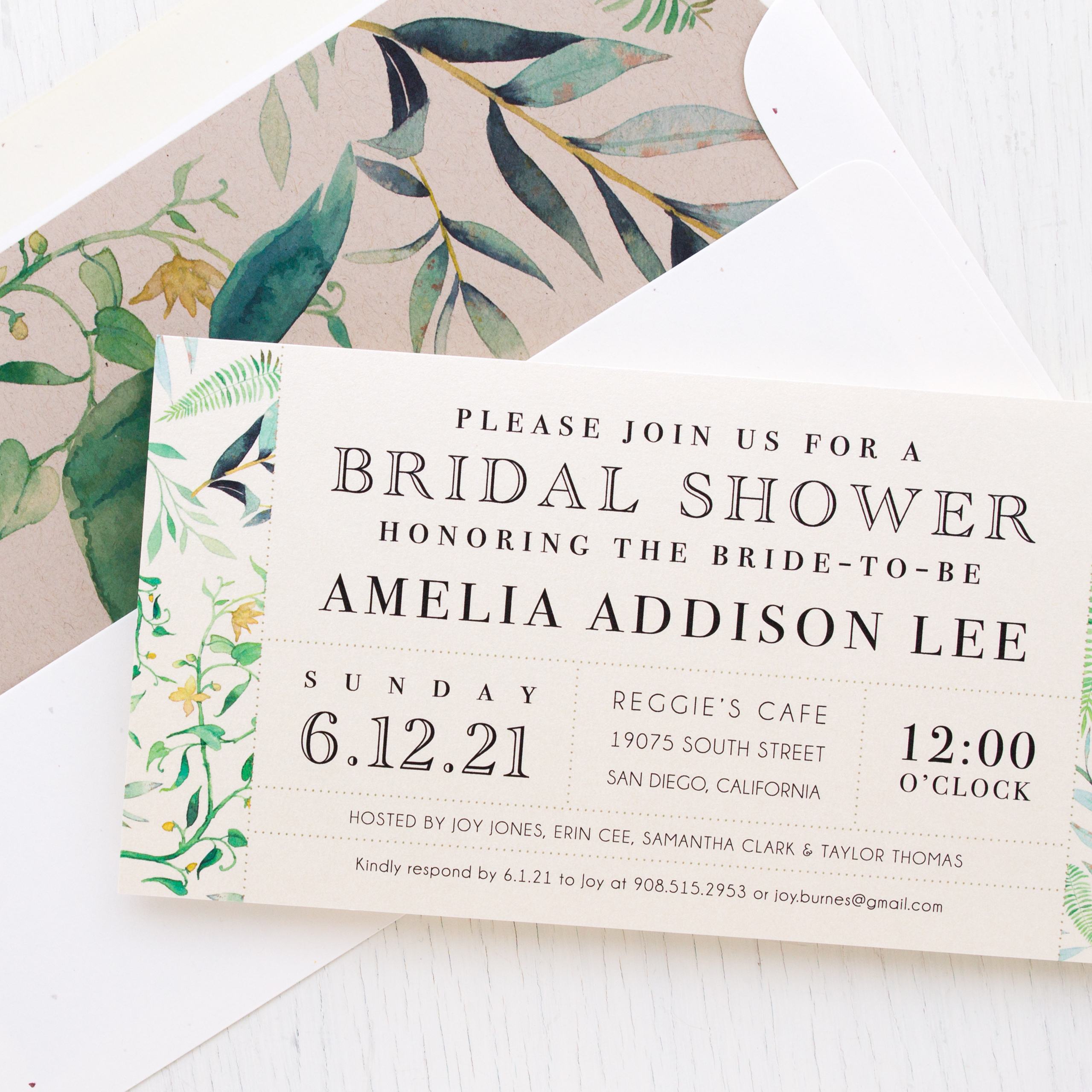 Botanical garden bridal shower invitations beacon lane botanical garden bridal shower invitations filmwisefo