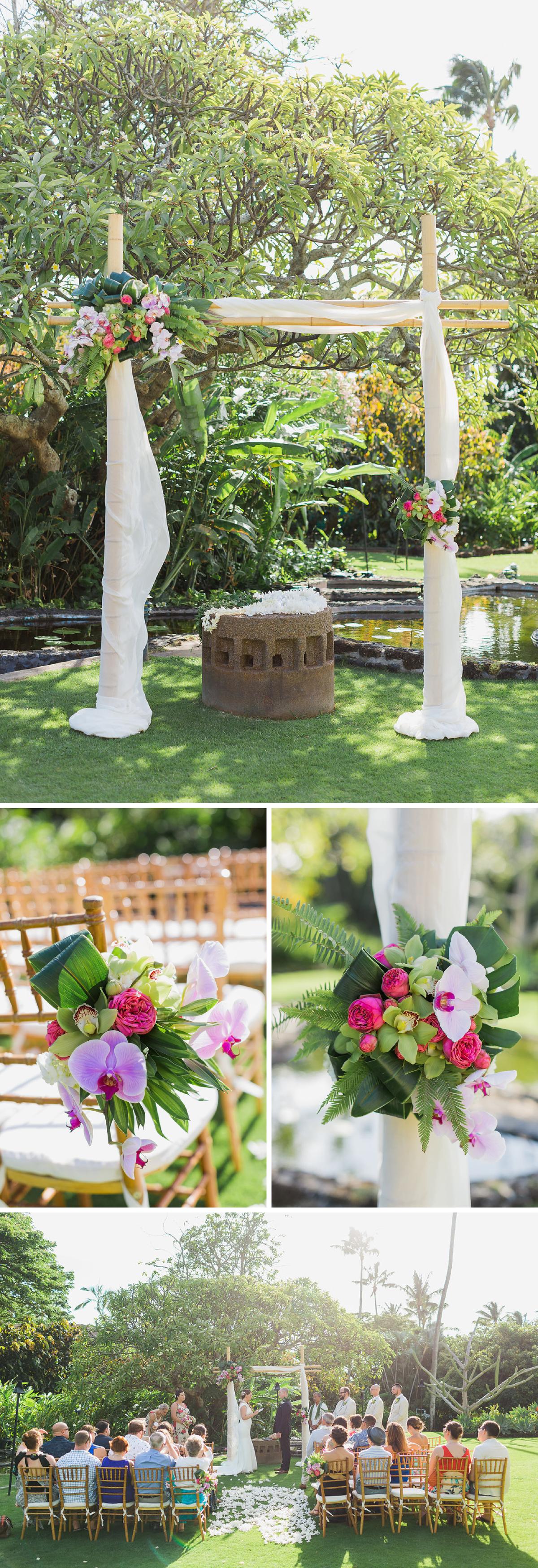 Tropical Hawaiian Destination Wedding