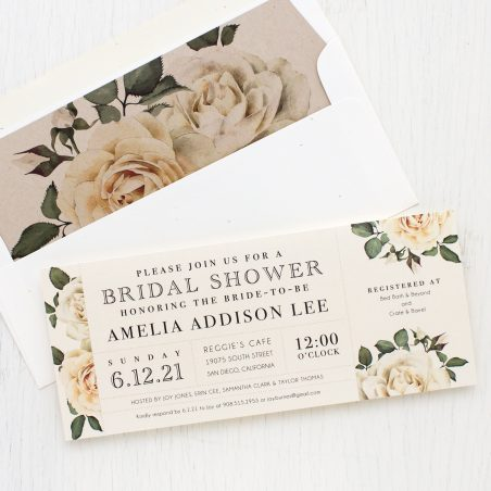 Modern Calligraphy Bridal Shower Invitations