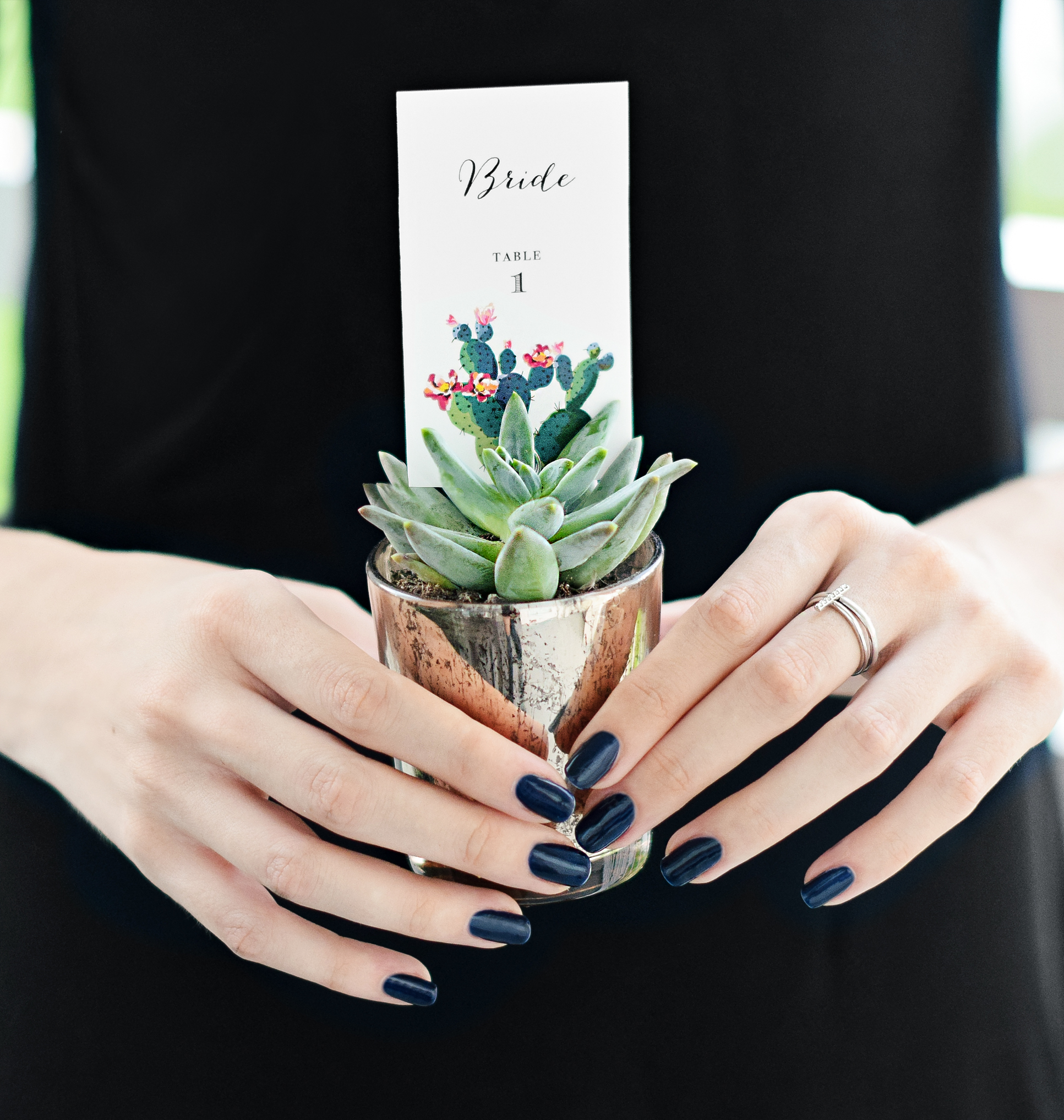 DIY Succulent Place Card Holders - Beacon Lane Blog