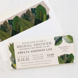 Green Leaf Bridal Shower Invitations
