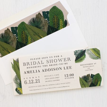Green Leaf Bridal Shower Invitations