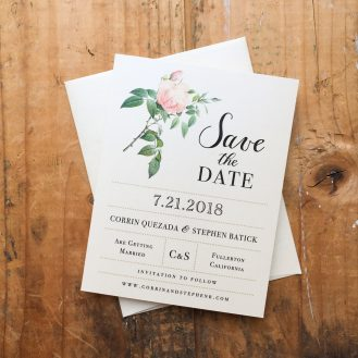 Ivory & Blush Save The Date