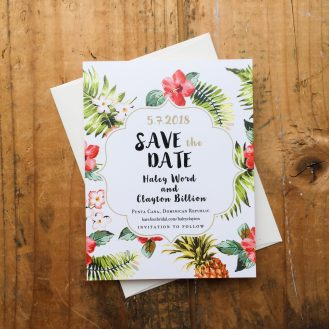 Pineapple Paradise Save the Dates
