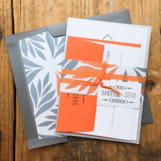 Tropical Forest Customized Wedding Invitation