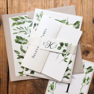 Eucalyptus Green Wedding Invitations