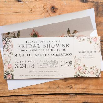 Graden Roses Bridal Shower Invitations