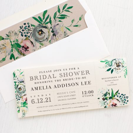 Painted Garden Bridal Shower Invitations