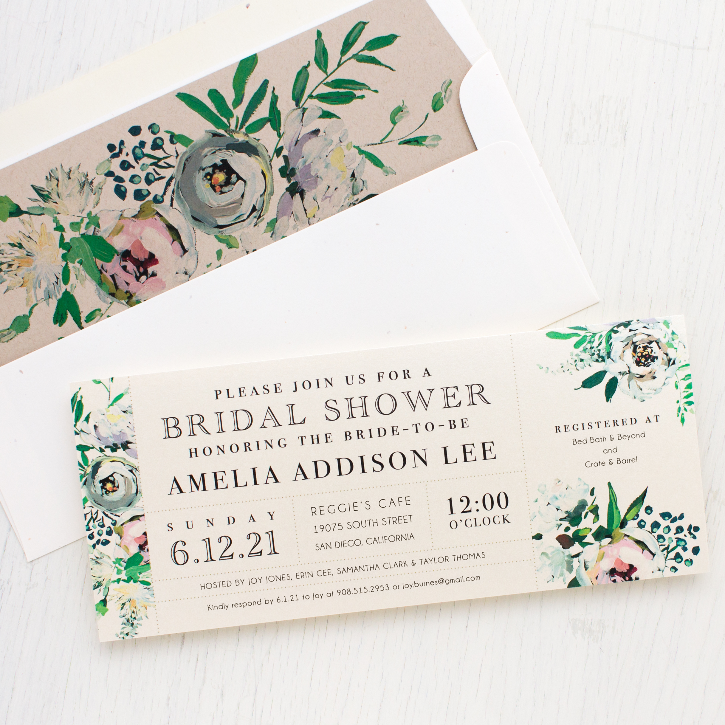 Painted garden bridal shower invitations beacon lane painted garden bridal shower invitations filmwisefo