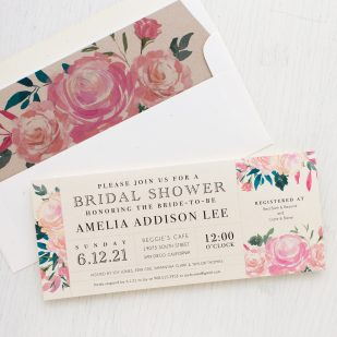 Pink Watercolor Bridal Shower Invitations