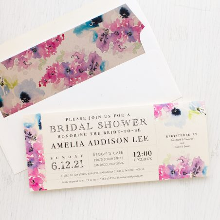 Vintage Lavender Bridal Shower Invitations