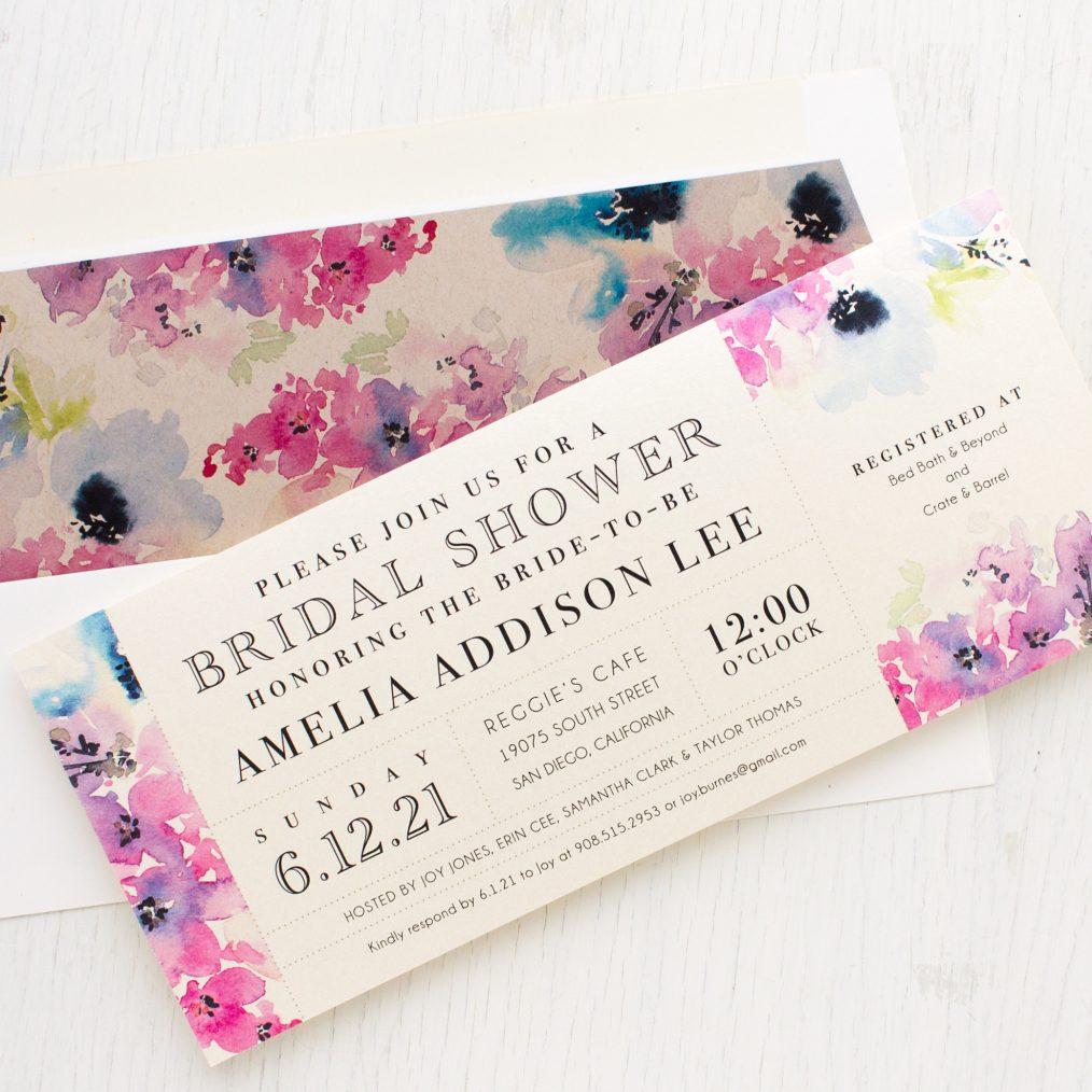 Vintage Lavender Bridal Shower Invitations