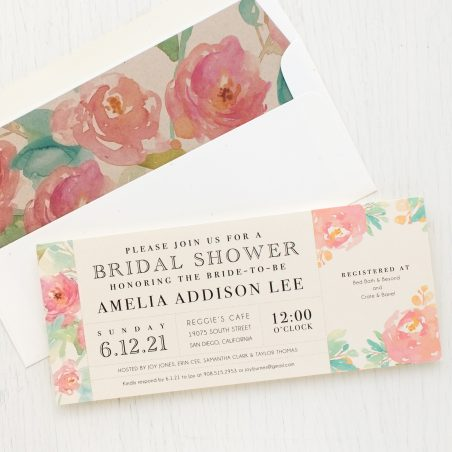 Watercolor Pastel Bridal Shower Invitations