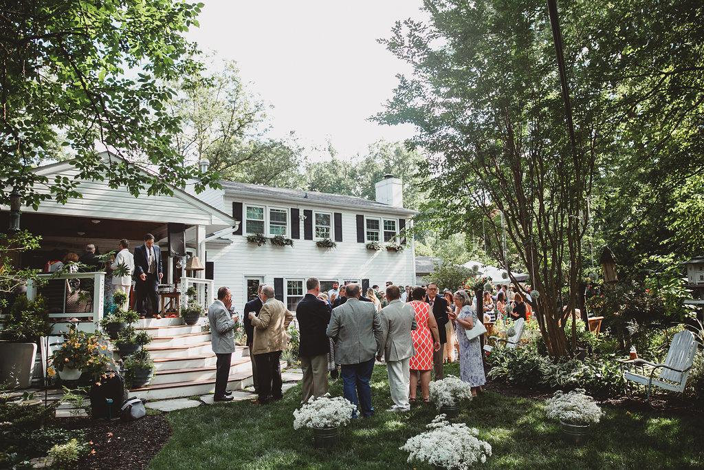 Casual Backyard Wedding Reception casual backyard summer wedding | beacon lane