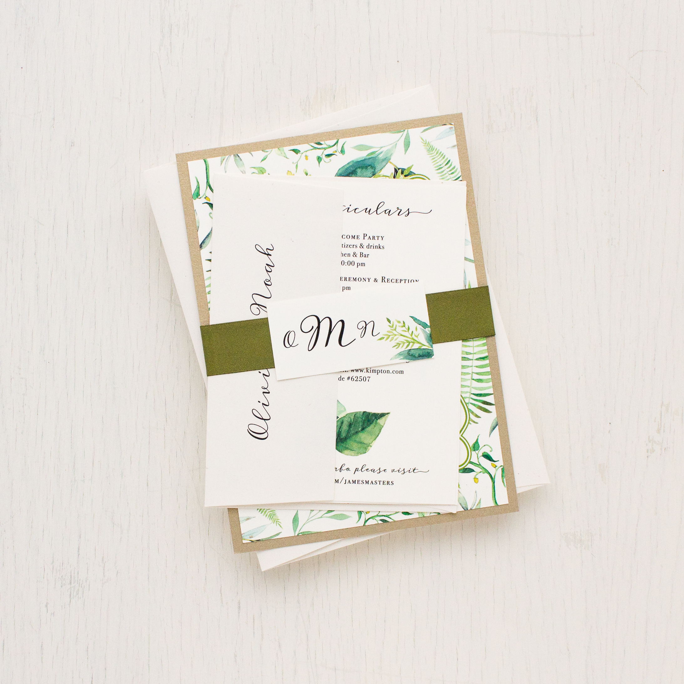 Simple Elegant Greenery Wedding Inspiration