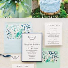 Navy and Mint Garden Wedding Inspiration