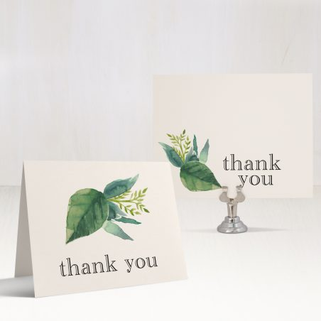 Botanical Garden Bridal Shower Thank You Cards