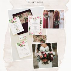 Blush & Burgundy Wedding