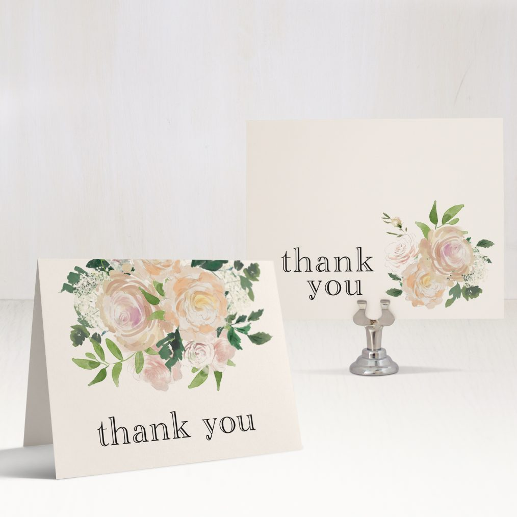 Garden Blooms Bridal Shower Thank You Cards