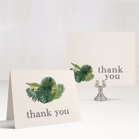 Green Leaf Bridal Shower Thank You Cards