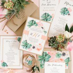 Blush Succulent Boho Wedding