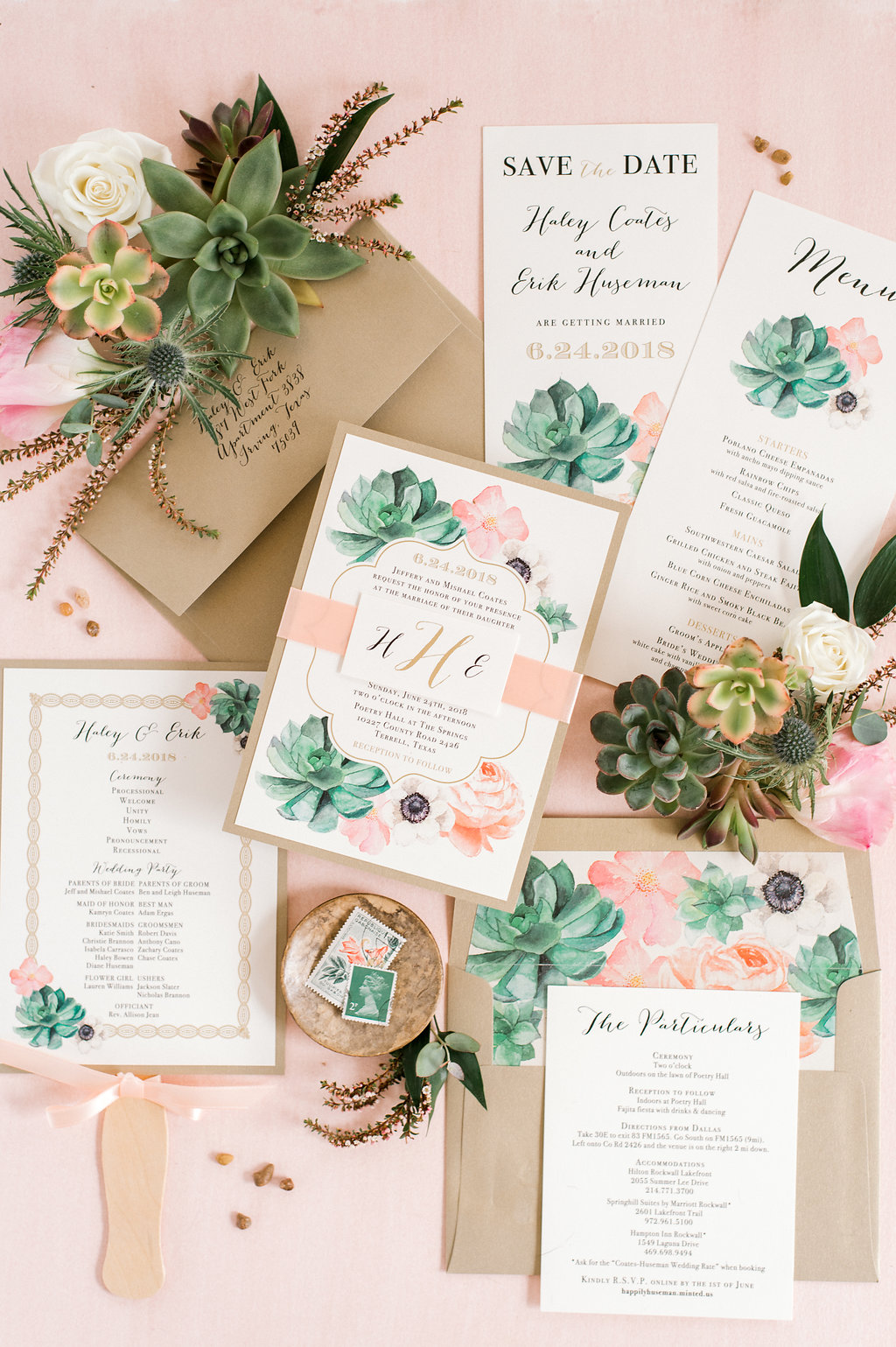 908179fd19f8c2 Look no further for all the blush succulent boho garden wedding inspiration  you need! Haley and Erik were married at The Springs in Terrell