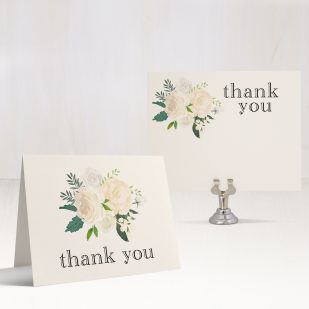 Ivory & Gold Bridal Shower Thank You Cards