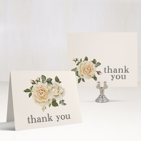 Modern Calligraphy Bridal Shower Thank You Cards
