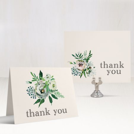 Painted Garden Bridal Shower Thank You Cards