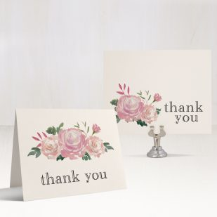 Pink Watercolor Bridal Shower Thank You Cards