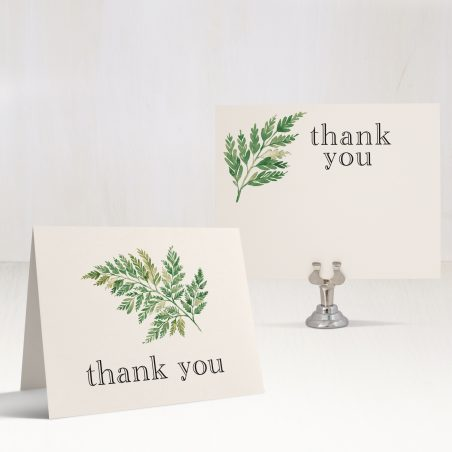 Simple Greenery Bridal Shower Thank You Cards