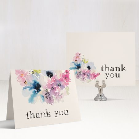 Vintage Lavender Bridal Shower Thank You Cards