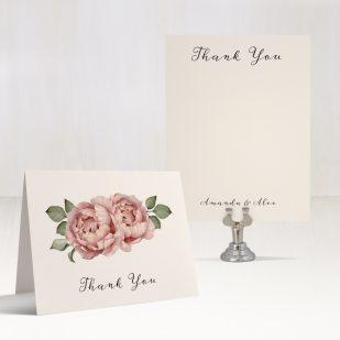 Blush Script Thank You Cards