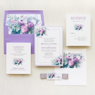 Watercolor Rose #2 Wedding Invitations